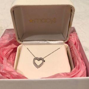 Macy's Diamond Heart Necklace